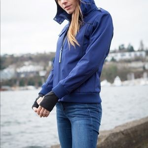 Baubax travel bomber smart jacket navy blue
